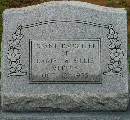 MEDLEY, INFANT DAUGHTER - Tishomingo County, Mississippi | INFANT DAUGHTER MEDLEY - Mississippi Gravestone Photos