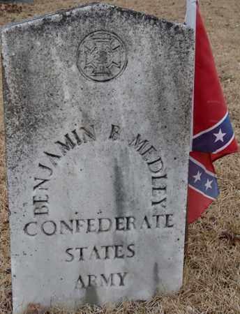 MEDLEY (VETERAN), BENJAMIN B - Tishomingo County, Mississippi   BENJAMIN B MEDLEY (VETERAN) - Mississippi Gravestone Photos