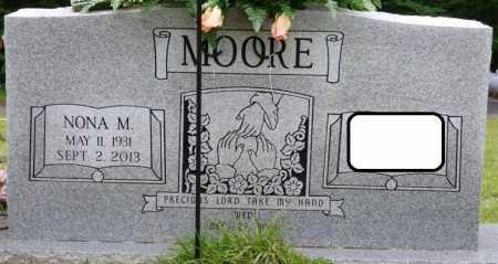 MOORE, NONA M - Tishomingo County, Mississippi | NONA M MOORE - Mississippi Gravestone Photos