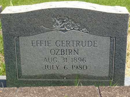 OZBIRN, EFFIE GERTRUDE - Tishomingo County, Mississippi | EFFIE GERTRUDE OZBIRN - Mississippi Gravestone Photos