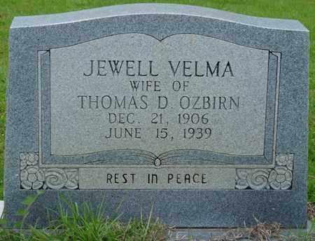 OZBIRN, JEWELL VELMA - Tishomingo County, Mississippi   JEWELL VELMA OZBIRN - Mississippi Gravestone Photos