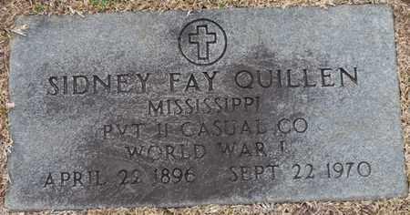 QUILLEN (VETERAN WWI), SIDNEY FAY - Tishomingo County, Mississippi | SIDNEY FAY QUILLEN (VETERAN WWI) - Mississippi Gravestone Photos