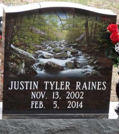 RAINES, JUSTIN TYLER - Tishomingo County, Mississippi | JUSTIN TYLER RAINES - Mississippi Gravestone Photos