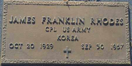 RHODES (VETERAN KOR), JAMES FRANKLIN - Tishomingo County, Mississippi | JAMES FRANKLIN RHODES (VETERAN KOR) - Mississippi Gravestone Photos