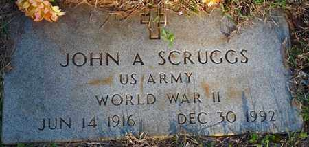SCRUGGS (VETERAN WWII), JOHN A - Tishomingo County, Mississippi   JOHN A SCRUGGS (VETERAN WWII) - Mississippi Gravestone Photos