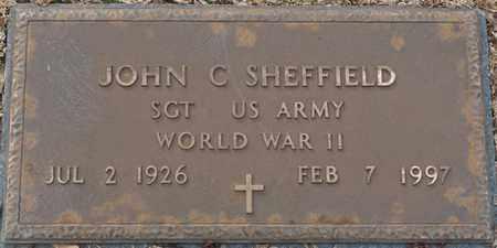 SHEFFIELD (VETERAN WWII), JOHN C - Tishomingo County, Mississippi | JOHN C SHEFFIELD (VETERAN WWII) - Mississippi Gravestone Photos