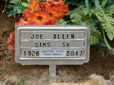 SIMS SR., JOE ALLEN - Tishomingo County, Mississippi | JOE ALLEN SIMS SR. - Mississippi Gravestone Photos