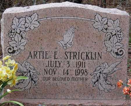 STRICKLIN, ARTIE E - Tishomingo County, Mississippi | ARTIE E STRICKLIN - Mississippi Gravestone Photos