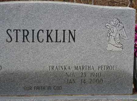 STRICKLIN, TRAINKA MARTHA - Tishomingo County, Mississippi   TRAINKA MARTHA STRICKLIN - Mississippi Gravestone Photos