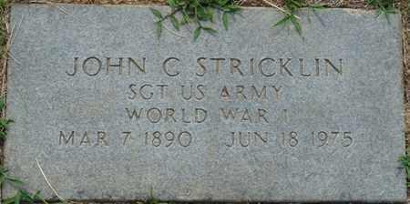 STRICKLIN (VETERAN WWI), JOHN C - Tishomingo County, Mississippi | JOHN C STRICKLIN (VETERAN WWI) - Mississippi Gravestone Photos