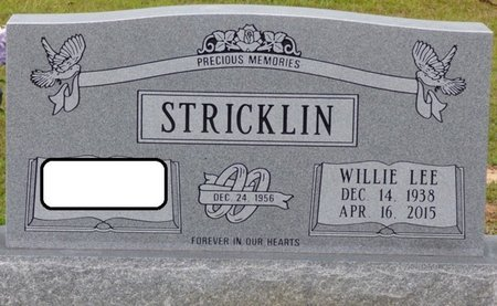 STRICKLIN, WILLIE LEE - Tishomingo County, Mississippi | WILLIE LEE STRICKLIN - Mississippi Gravestone Photos