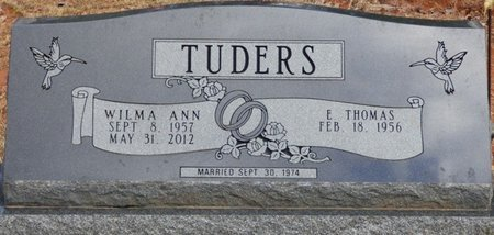 TUDERS, WILMA ANN - Tishomingo County, Mississippi | WILMA ANN TUDERS - Mississippi Gravestone Photos
