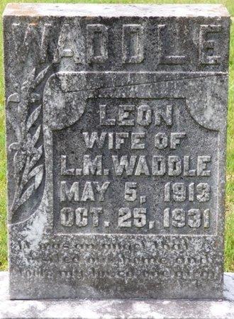 WADDLE, LEON - Tishomingo County, Mississippi | LEON WADDLE - Mississippi Gravestone Photos