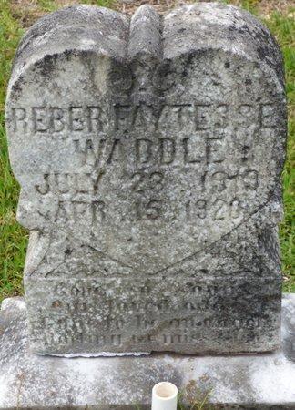 WADDLE, REBER FAYTESSE - Tishomingo County, Mississippi | REBER FAYTESSE WADDLE - Mississippi Gravestone Photos