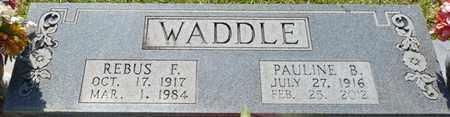 WADDLE, REBUS F - Tishomingo County, Mississippi | REBUS F WADDLE - Mississippi Gravestone Photos