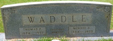 WADDLE, MINNIE A - Tishomingo County, Mississippi | MINNIE A WADDLE - Mississippi Gravestone Photos