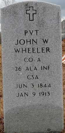 WHEELER (VETERAN), JOHN W - Tishomingo County, Mississippi   JOHN W WHEELER (VETERAN) - Mississippi Gravestone Photos