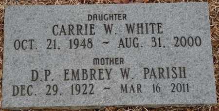 PARRISH, D.P. EMBREY W - Tishomingo County, Mississippi | D.P. EMBREY W PARRISH - Mississippi Gravestone Photos