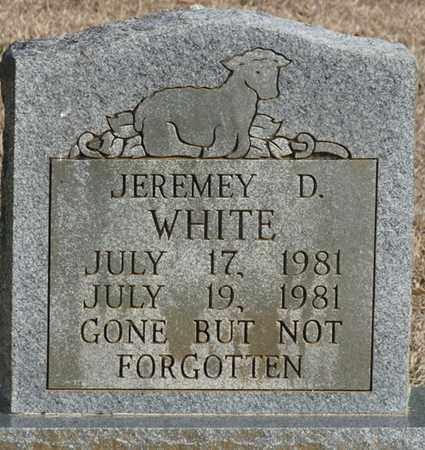 WHITE, JEREMEY D - Tishomingo County, Mississippi | JEREMEY D WHITE - Mississippi Gravestone Photos