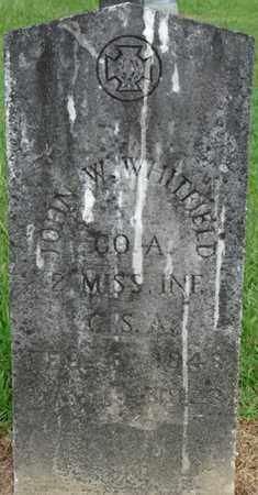 WHITFIELD (VETERAN CSA), JOHN WESLEY - Tishomingo County, Mississippi | JOHN WESLEY WHITFIELD (VETERAN CSA) - Mississippi Gravestone Photos