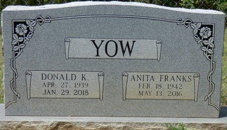 FRANKS YOW, ANITA - Tishomingo County, Mississippi | ANITA FRANKS YOW - Mississippi Gravestone Photos