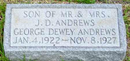 ANDREWS, GEORGE DEWEY - Walthall County, Mississippi | GEORGE DEWEY ANDREWS - Mississippi Gravestone Photos
