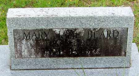 BEARD (CLOSE UP), MARY JANE - Walthall County, Mississippi | MARY JANE BEARD (CLOSE UP) - Mississippi Gravestone Photos