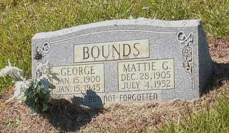 BOUNDS, GEORGE - Walthall County, Mississippi | GEORGE BOUNDS - Mississippi Gravestone Photos