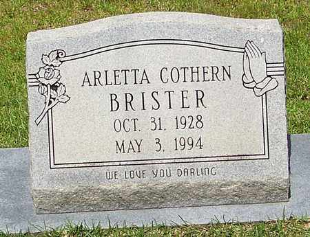 BRISTER, ARLETTA - Walthall County, Mississippi | ARLETTA BRISTER - Mississippi Gravestone Photos