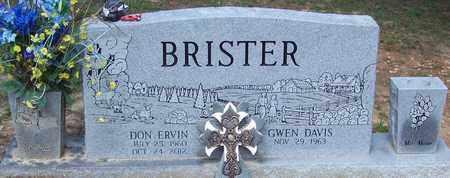 BRISTER, DON ERVIN - Walthall County, Mississippi | DON ERVIN BRISTER - Mississippi Gravestone Photos
