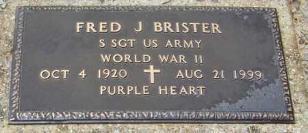 BRISTER (VETERAN WWII), FRED J - Walthall County, Mississippi | FRED J BRISTER (VETERAN WWII) - Mississippi Gravestone Photos