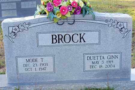 GINN BROCK, DUETTA - Walthall County, Mississippi | DUETTA GINN BROCK - Mississippi Gravestone Photos