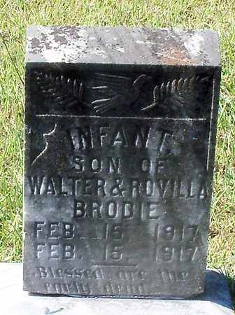 BRODIE, INFANT - Walthall County, Mississippi | INFANT BRODIE - Mississippi Gravestone Photos
