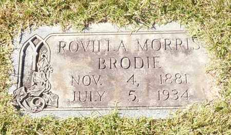 MORRIS BRODIE, ROVILLA - Walthall County, Mississippi | ROVILLA MORRIS BRODIE - Mississippi Gravestone Photos