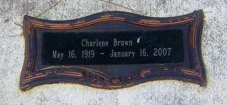 BROWN (CLOSE UP), CHARLENE - Walthall County, Mississippi | CHARLENE BROWN (CLOSE UP) - Mississippi Gravestone Photos