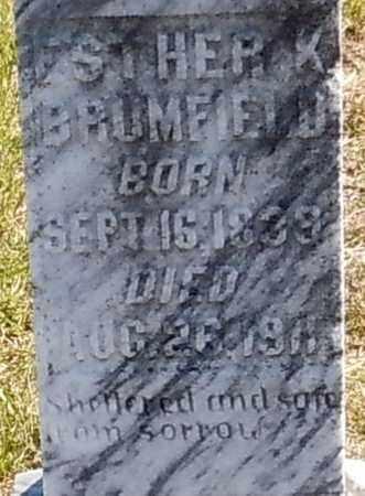 BRUMFIELD (CLOSE UP), ESTHER K - Walthall County, Mississippi | ESTHER K BRUMFIELD (CLOSE UP) - Mississippi Gravestone Photos