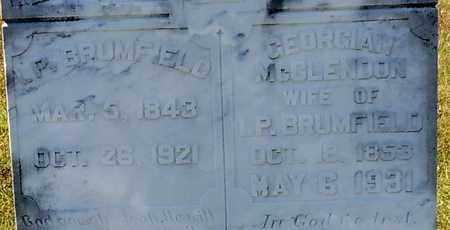 MCCLENDON BRUMFIELD (CLOSE UP), GEORGIAN - Walthall County, Mississippi | GEORGIAN MCCLENDON BRUMFIELD (CLOSE UP) - Mississippi Gravestone Photos