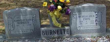 EVANS BURNETTE, MICHELLE ANN B - Walthall County, Mississippi | MICHELLE ANN B EVANS BURNETTE - Mississippi Gravestone Photos