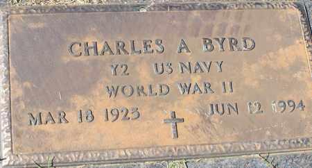 BYRD (VETERAN WWII), CHARLES A - Walthall County, Mississippi   CHARLES A BYRD (VETERAN WWII) - Mississippi Gravestone Photos