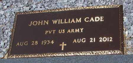CADE (VETERAN), JOHN WILLIAM - Walthall County, Mississippi   JOHN WILLIAM CADE (VETERAN) - Mississippi Gravestone Photos