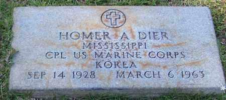 DIER (VETERAN KOR), HOMER A - Walthall County, Mississippi   HOMER A DIER (VETERAN KOR) - Mississippi Gravestone Photos