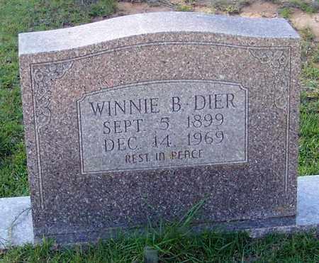 DIER, WINNIE B - Walthall County, Mississippi | WINNIE B DIER - Mississippi Gravestone Photos