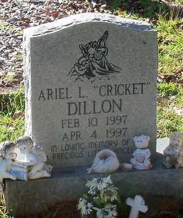 "DILLON, ARIEL L ""CRICKET"" - Walthall County, Mississippi | ARIEL L ""CRICKET"" DILLON - Mississippi Gravestone Photos"