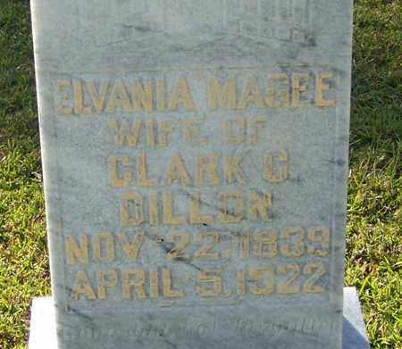 MAGEE DILLON (CLOSE UP), ELVANIA - Walthall County, Mississippi | ELVANIA MAGEE DILLON (CLOSE UP) - Mississippi Gravestone Photos