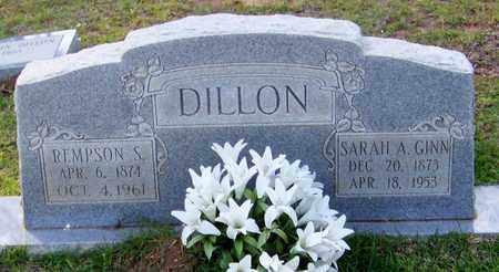 GINN DILLON, SARAH A - Walthall County, Mississippi | SARAH A GINN DILLON - Mississippi Gravestone Photos