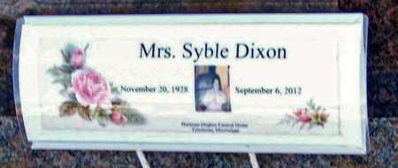 DIXON, SYBLE - Walthall County, Mississippi | SYBLE DIXON - Mississippi Gravestone Photos