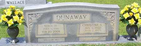 DUNAWAY, CHRISTINE V - Walthall County, Mississippi | CHRISTINE V DUNAWAY - Mississippi Gravestone Photos