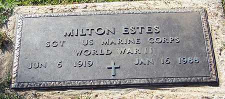 ESTES (VETERAN WWII), MILTON - Walthall County, Mississippi   MILTON ESTES (VETERAN WWII) - Mississippi Gravestone Photos