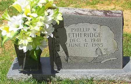 ETHERIDGE, PHILLIP W - Walthall County, Mississippi | PHILLIP W ETHERIDGE - Mississippi Gravestone Photos