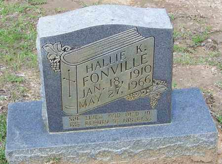 FONVILLE, HALLIE K - Walthall County, Mississippi | HALLIE K FONVILLE - Mississippi Gravestone Photos
